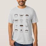 Mustache Style Identification Chart T Shirts