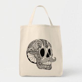Mustache Sugar Skull Bag