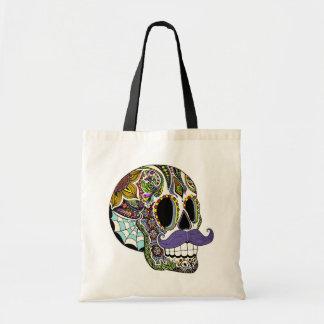 Mustache Sugar Skull Bag - Color Version