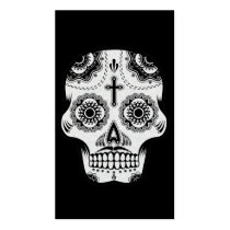 sugar skull, tattoo, skull, mustache, vintage, day of the dead, cool, funny, geometric, business card, urban, fantasy, dia de los muertos, calaveras, bone, symbol, street, religion, mexican, original, business, card, Business Card with custom graphic design