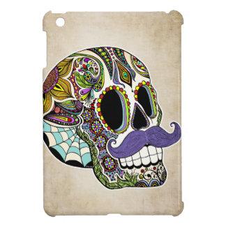 Mustache Sugar Skull iPad Mini Case-Vintage Style