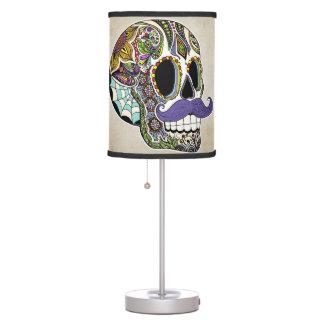 Mustache Sugar Skull Table Lamp
