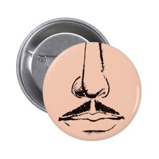 Mustache Surrealist Pinback Pins