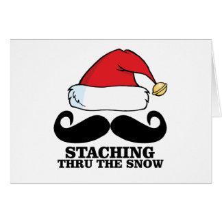Mustache T-shirt - Staching thru the snow M.png Card