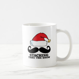 Mustache T-shirt - Staching thru the snow M.png Coffee Mug