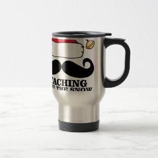 Mustache T-shirt - Staching thru the snow M.png Travel Mug