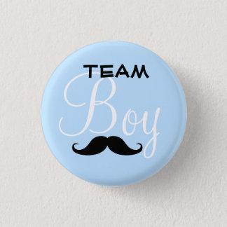 Mustache Team Boy Baby Shower Button