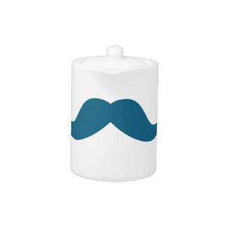 Mustache Teapot