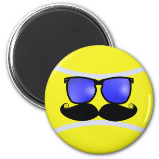 Mustache Tennis Magnet