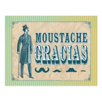 Mustache Thank You Postcard