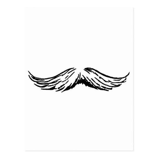 Mustache The MUSEUM Zazzle Gifts Postcard