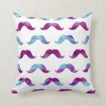 Mustache Tie Dye Watercolor Mustaches Rainbow Pillows
