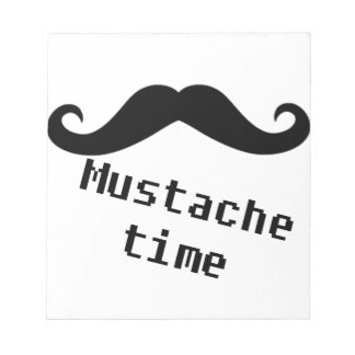 mustache time notepad