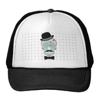 Mustache Top Hat Bicycle Skull Cap