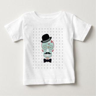 Mustache Top Hat Bicycle Sugar Skull Calavera Shirt