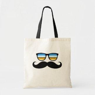 Mustache under Shades Canvas Bag