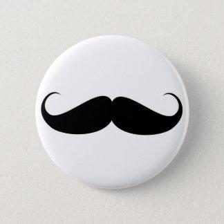 mustache vintage symbol illustration pinback button