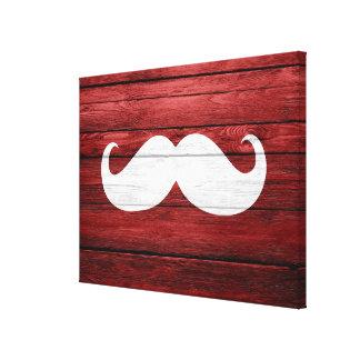 Mustache Vintage Wood Canvas Print