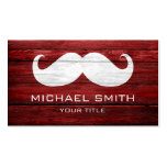 Mustache Vintage Wood Double-Sided Standard Business Cards (Pack Of 100)
