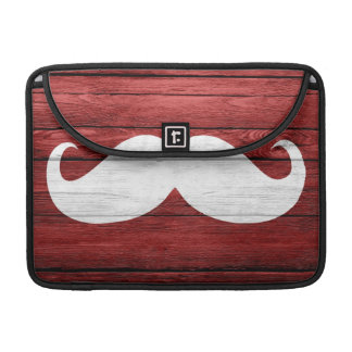 Mustache Vintage Wood Sleeve For MacBooks