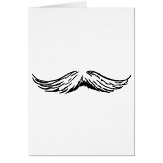 Mustache White Black The MUSEUM Zazzle Gifts Card