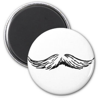 Mustache White Black The MUSEUM Zazzle Gifts Magnet