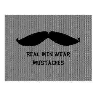 Mustache with Fun Saying Postcard