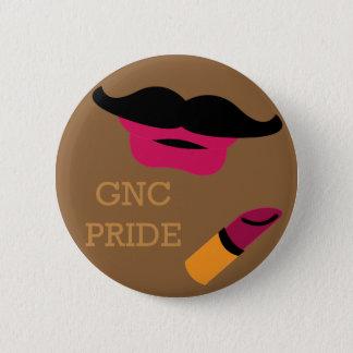 Mustache with Lipstick, Gender Non-Conforming Button