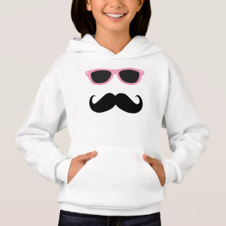 Mustache with Pink Sunglasses Hoodie