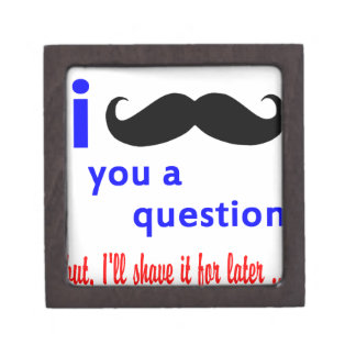 Mustache You a Question QPC Template Gift Box