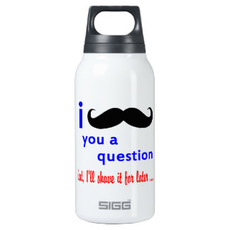 Mustache You a Question QPC Template Insulated Water Bottle