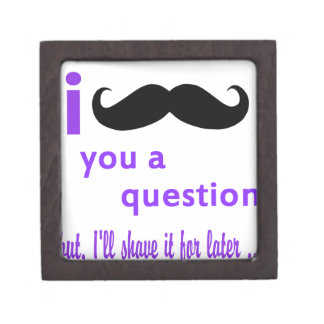 Mustache You a Question Qpc Template Jewelry Box