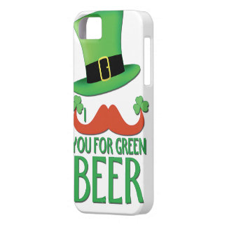 mustache you for green beer ginger mustache clover iPhone SE/5/5s case