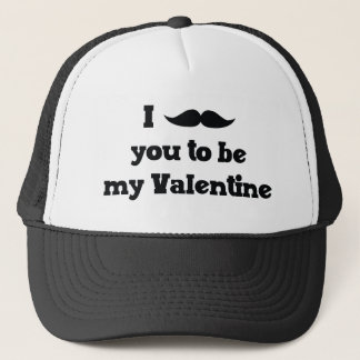Mustache You to Be My Valentine Trucker Hat