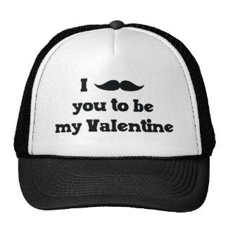 Mustache You to Be My Valentine Trucker Hat