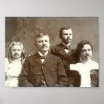 Mustached Ancestors Print
