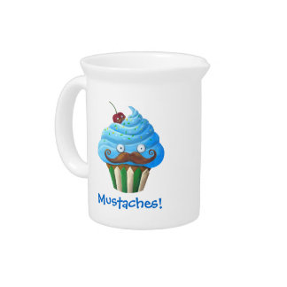 Mustached Cupcake Pitcher