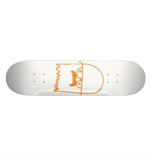 Mustached Ghost Skateboard Deck