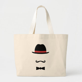 Mustached Man Large Tote Bag