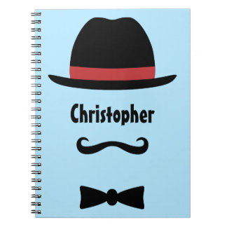 Mustached Man Notebook