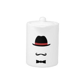 Mustached Man Teapot