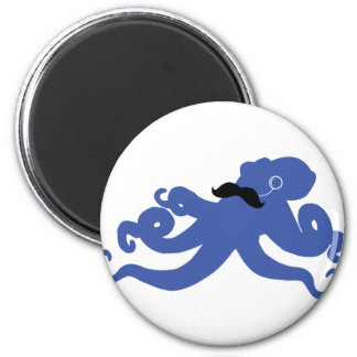 mustached octopus with a monocle magnet