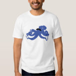 mustached octopus with a monocle tshirts