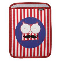 Mustached Owl iPad Sleeve