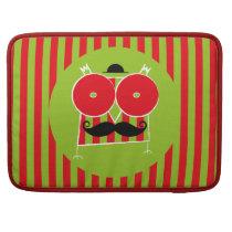 Mustached Owl Macbook Pro MacBook Pro Sleeve