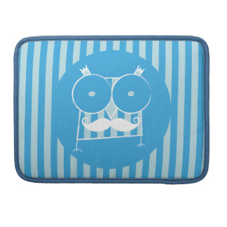 Mustached Owl Macbook Pro Sleeve For MacBook Pro