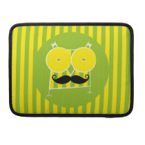 Mustached Owl Macbook Pro Sleeve For MacBooks