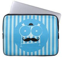 Mustached Owl Neoprene Laptop Sleeve