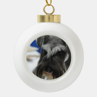 Mustached Schnauzer Ornaments