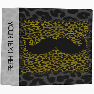 Mustaches and Leopard Print 2 3 Ring Binder